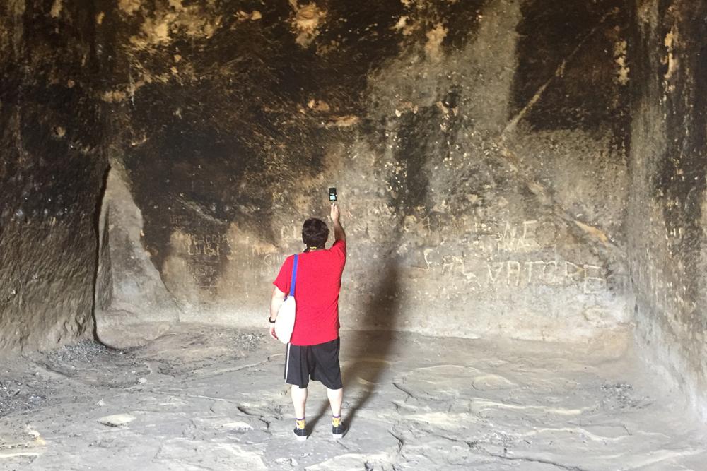 Field Recording @ Grotta della Gurfa. Sicily, Italy 2017