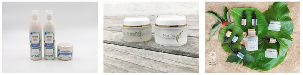 Tenemos una linea de productos para el cuidado de la piel libre de quimicos