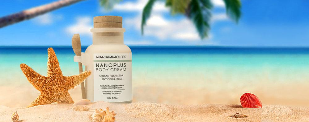 NanoPlus Body Cream es uno de los Productos naturales exclusivos de Spa Fisioestética Mariam Moldes