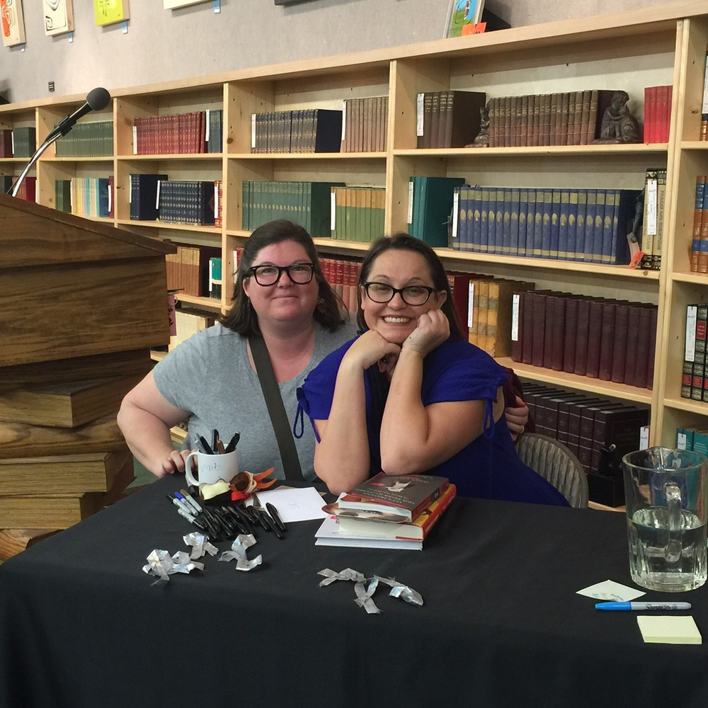E. Harty and Jenny Lawson at Powell's City of Books in Portland, Ore