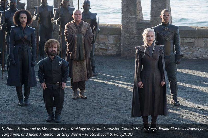 We know from the teaser trailer that Dany lands at Dragonstone, her ancestral seat that has been abandoned since the death and defeat of Stannis Baratheon and his army. Tyrion, Varys and Missandei remain close to her side.
