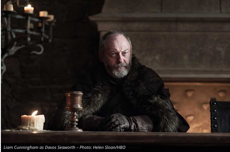 Ser Davos remains one of Jon's most trusted advisors.