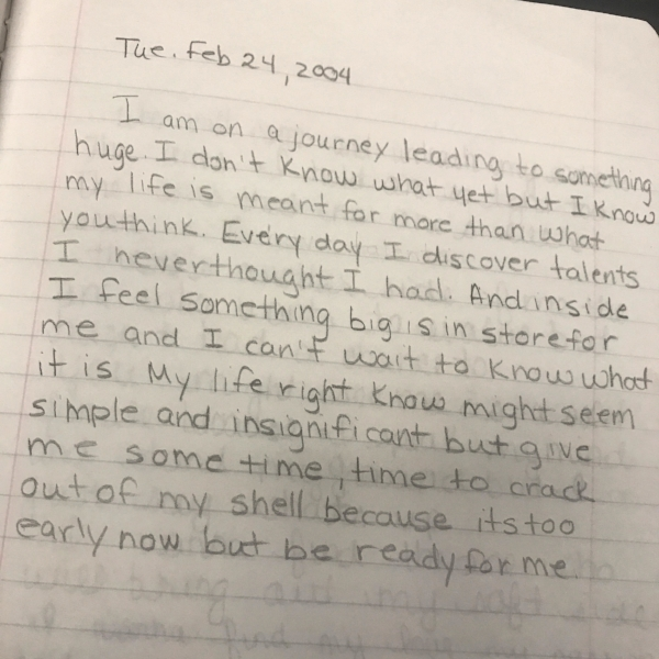 2004 journal entry