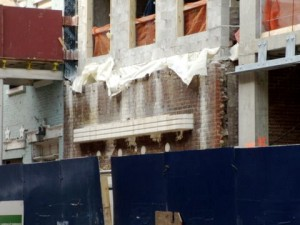 This is the exterior of the Provincetown Playhouse during the renovation in March 2010.