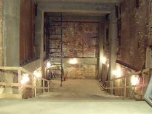 This is the interior of the Provincetown Playhouse during renovation, March 2010