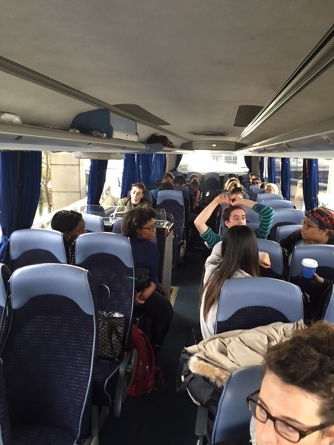 On the coach, ready to depart Heathrow!