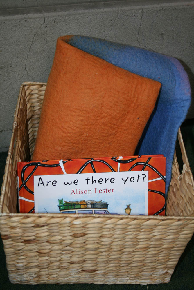 Storytelling kit, 'Are we there yet?' in Play Pod for State Library Victoria.