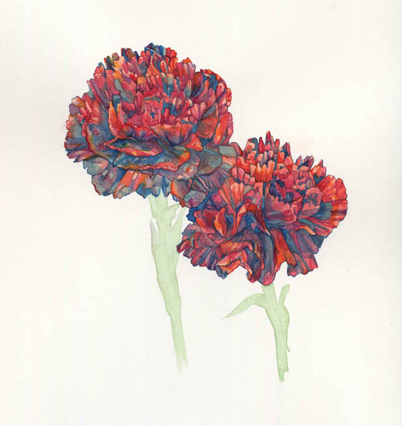Carnations, 2015. SOLD.