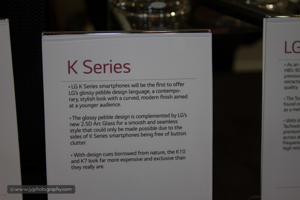 Brief description of K-Series LG Phone