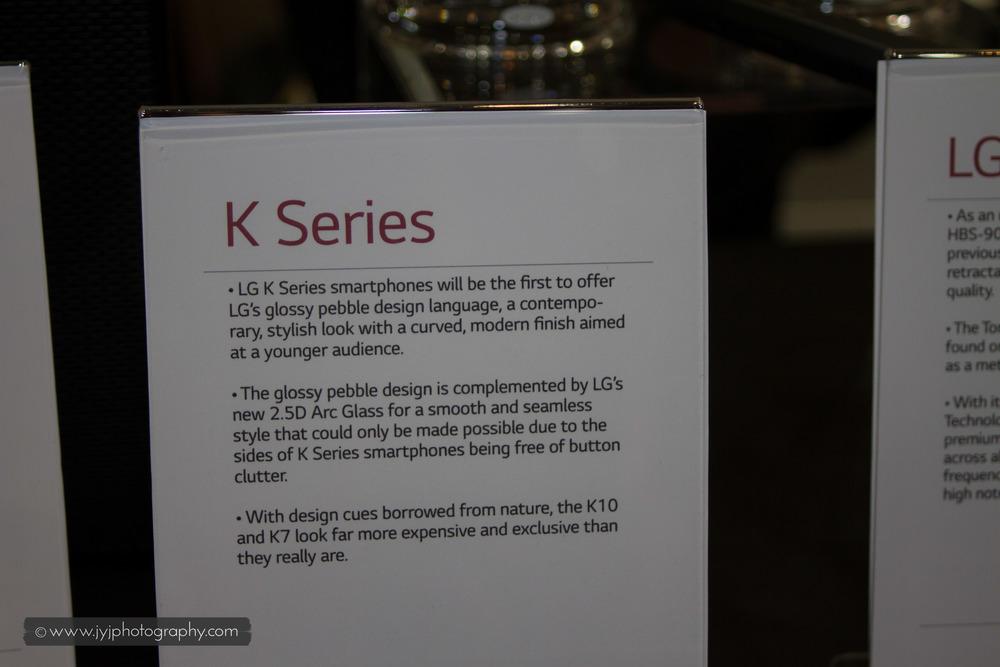 Brief description of K-Series LG Phone