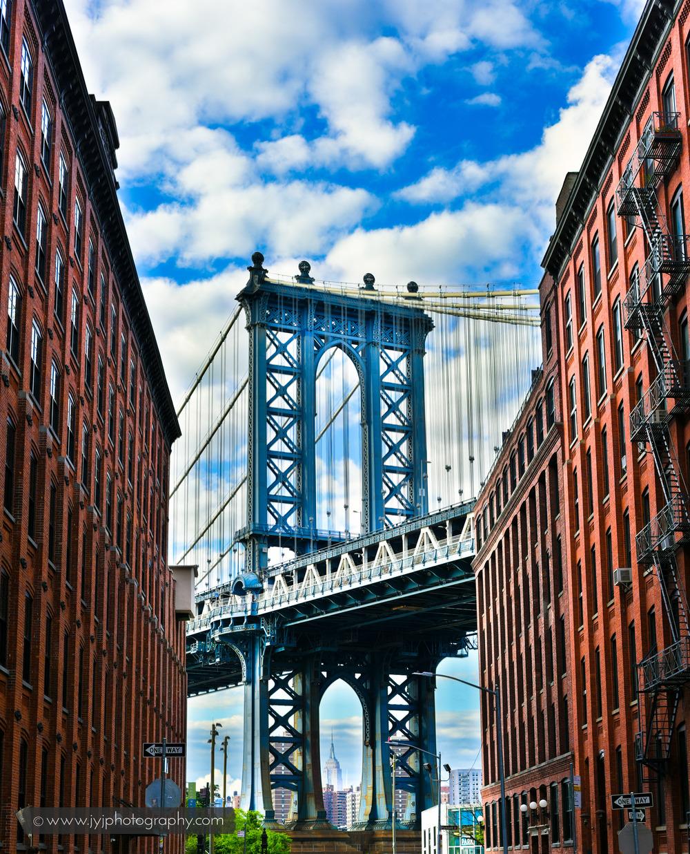 Manhattan Bridge. Image shot at Water Street and Washington Street.