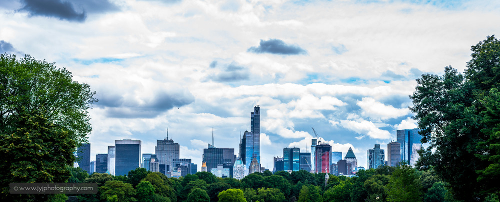 Manhattan from the north side of Central Park