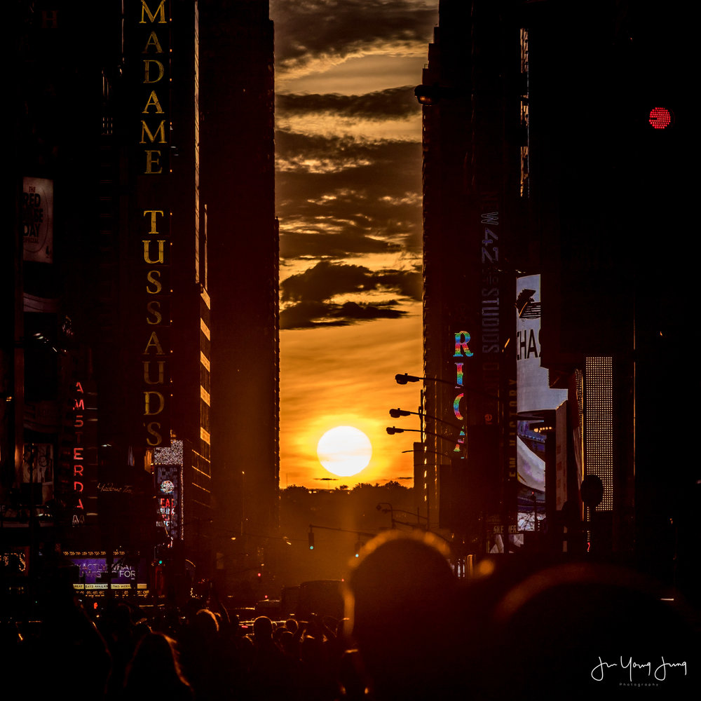 Sunset in Times Square