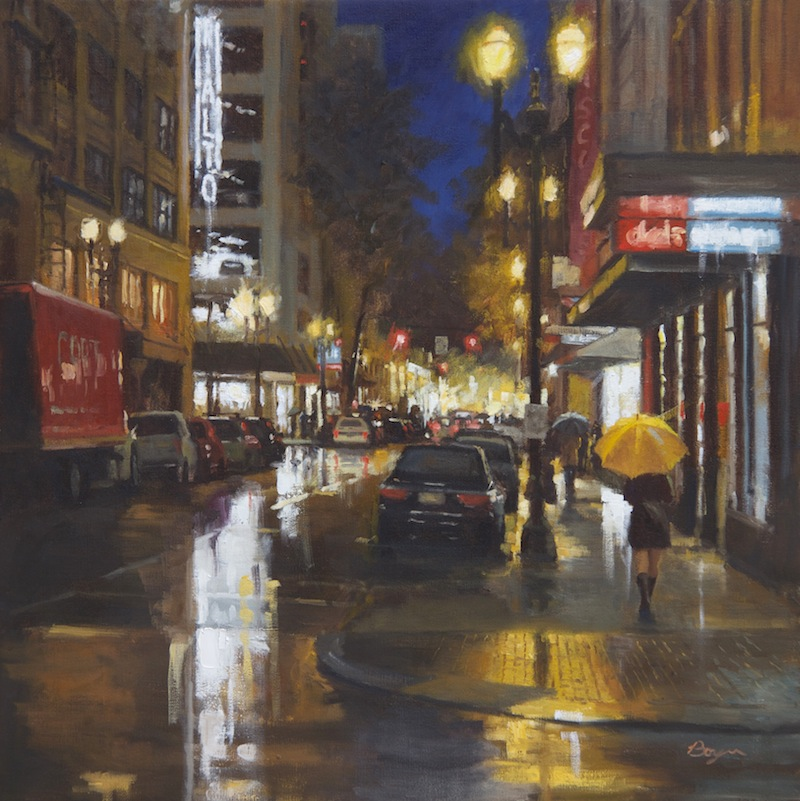"Rainy Friday Night  30x30  ""sold"""