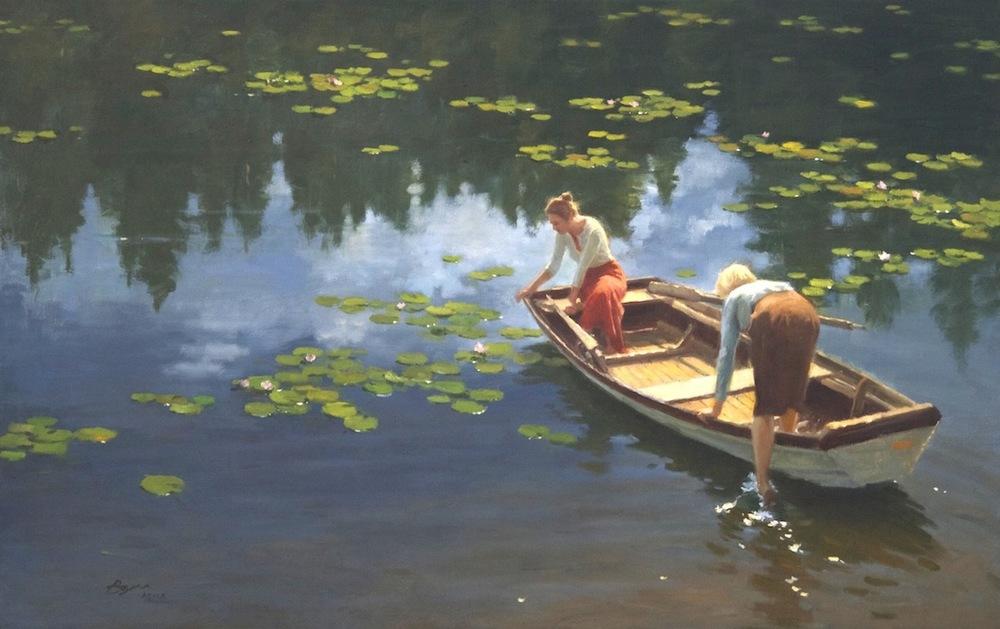 Boat Ride 24x38 $6200.