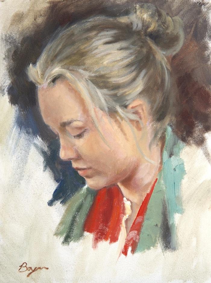 Figure Study 16x12 $1800.