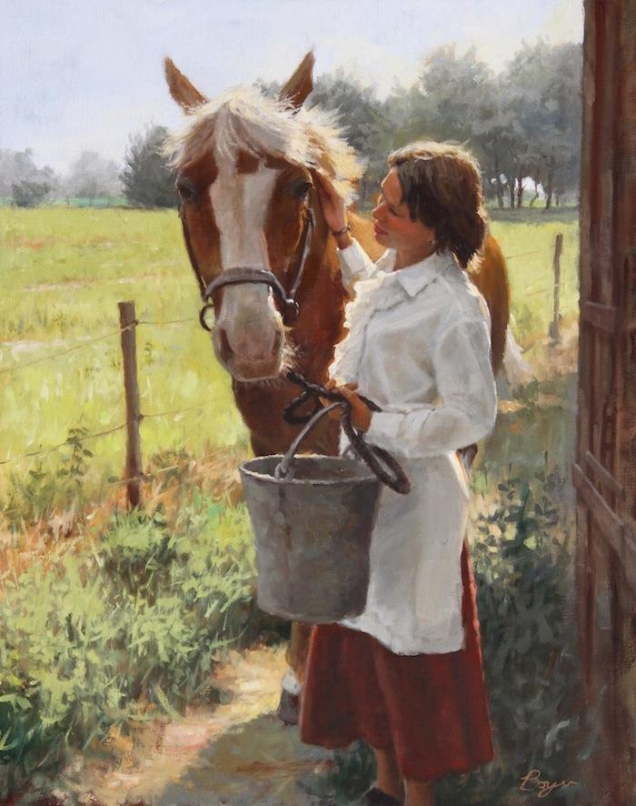 """Horse Whisperer 30x24 """"sold"""""""