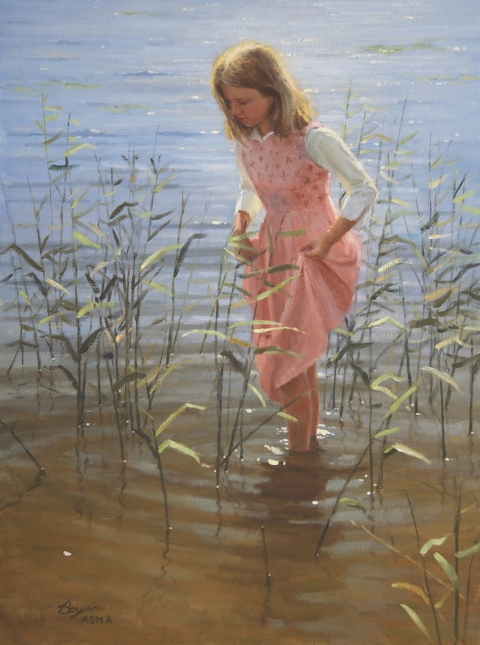 Walking amoungst the Reeds 24x18  3600.