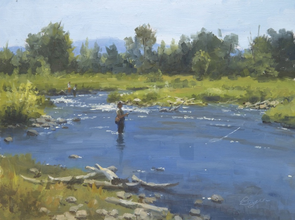 "Fly Fishing on the Provo 12x16  ""sold"""