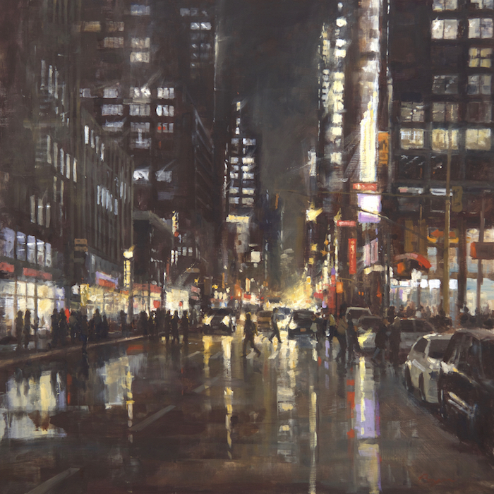 Manhattan Reflections 36x36