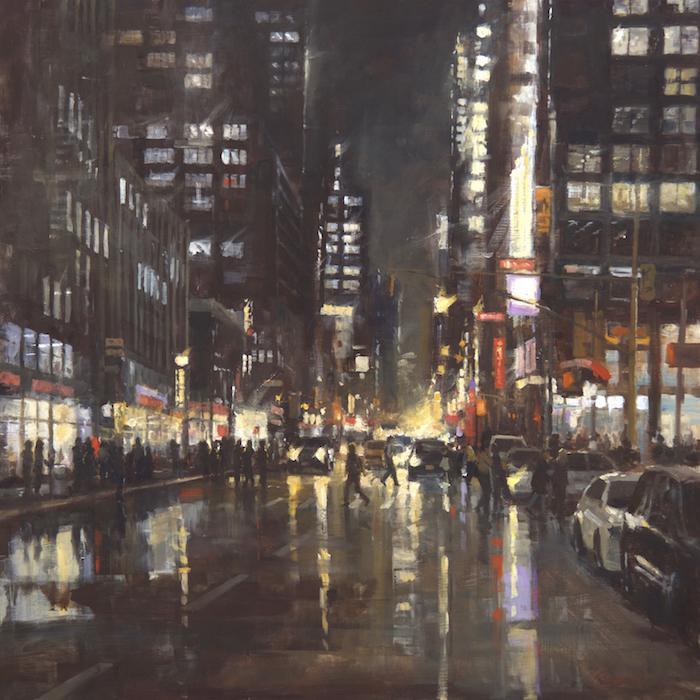 Manhattan Reflections 36x36