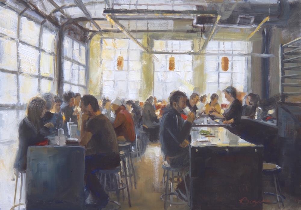 Cafe in Portland 14x20