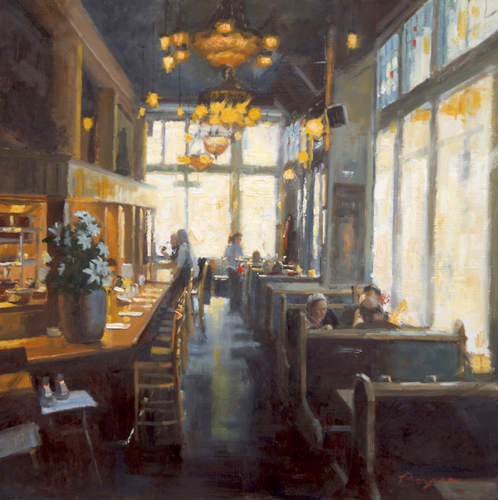 Breakfast at the Zeus Cafe 24x24