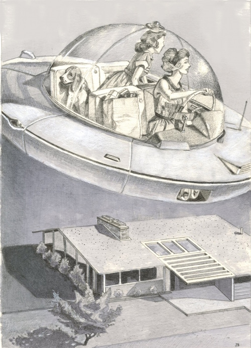 Vision of the Future: Personal Flying Carpet, 1959