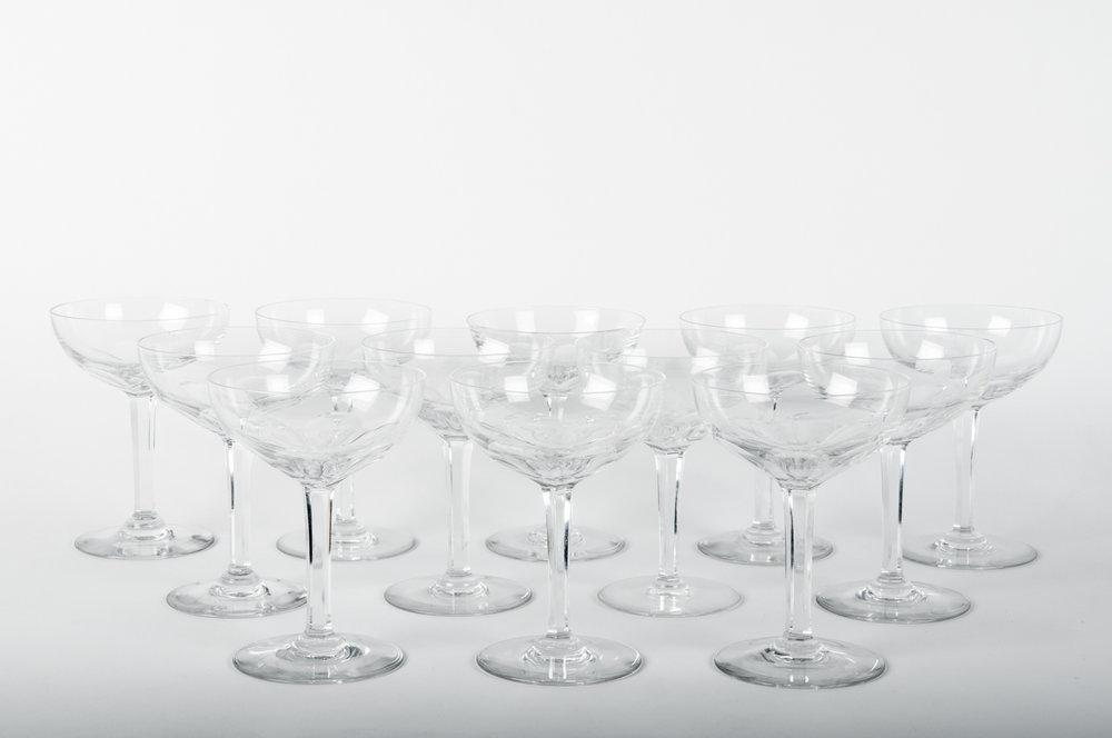 Set Of 12 Vintage Baccarat Crystal Champagne Coupes — La Maison ...