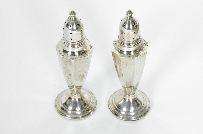 Vintage Art Deco Sterling Silver Salt And Pepper Shakers La Maison