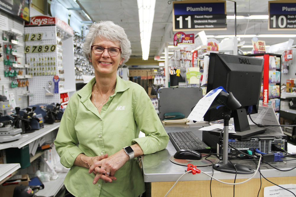 Judith Pyle, Evergreen Ace Hardware owner 2010-2018.