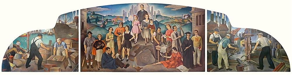 A WPA mural. // Unknown