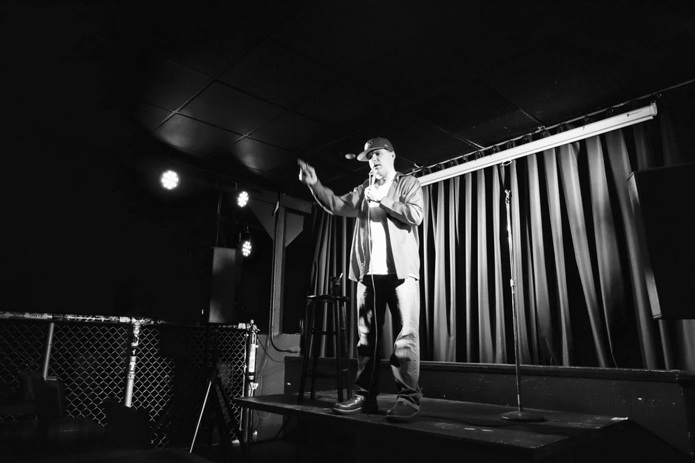 Mike Parker , one of the more experienced comics spent his entire set chatting with the audience while cracking impromptu jokes // Garret Hunt