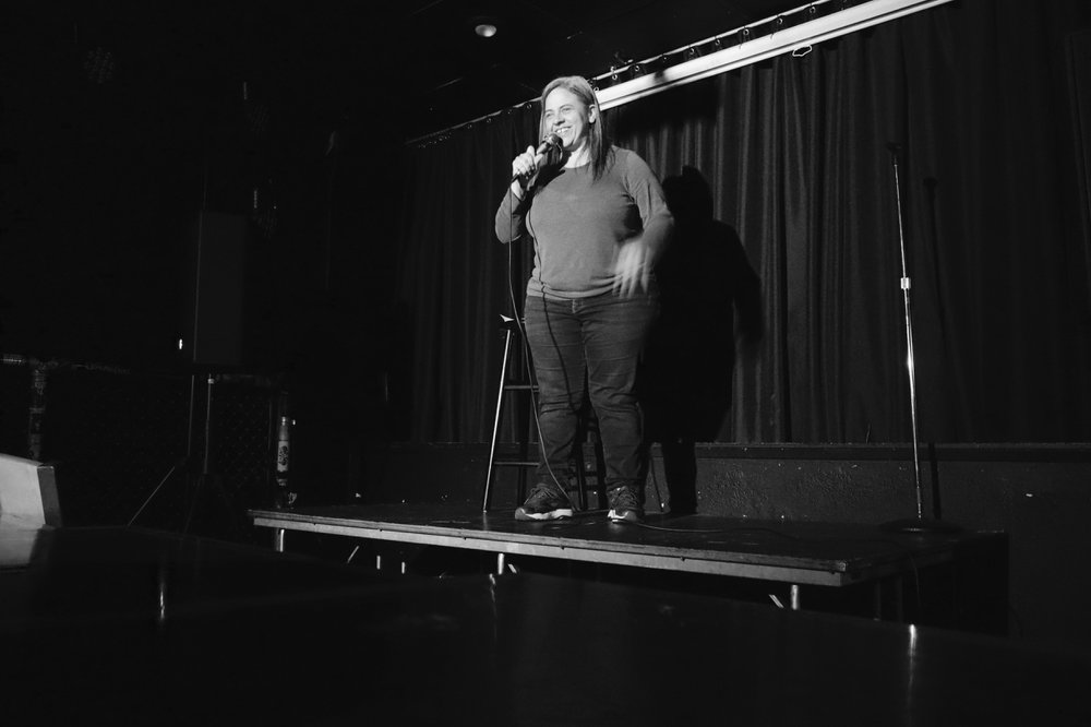 Mary Lou Gamba of Seattle was the showcase comedian the night I attended // Garret Hunt