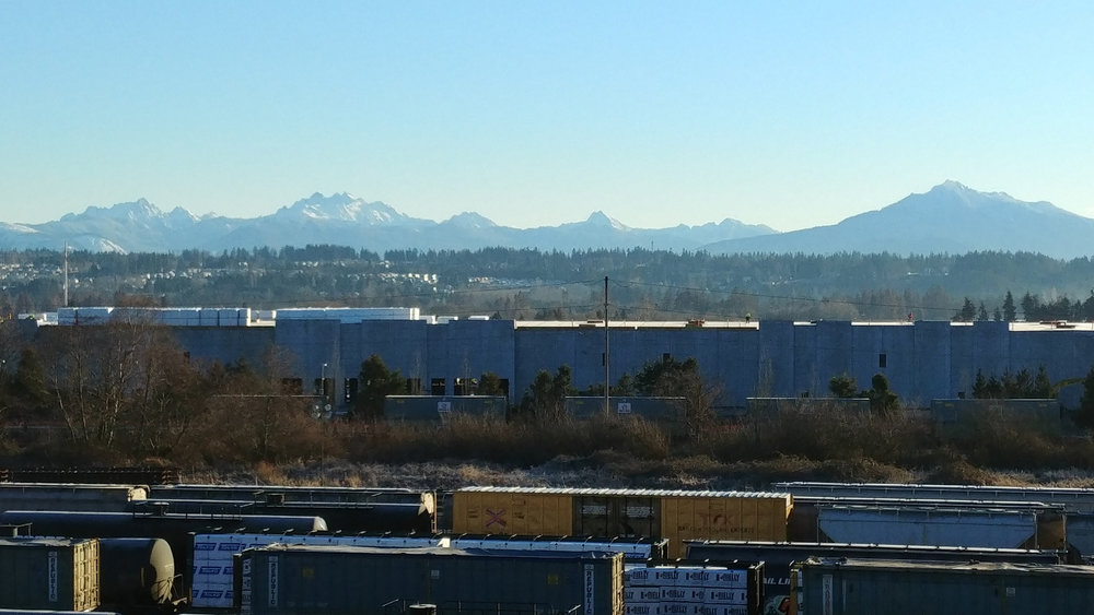 This new business park blocks the view of the river, but thankfully it doesn't block the mountains // Christopher Bragg