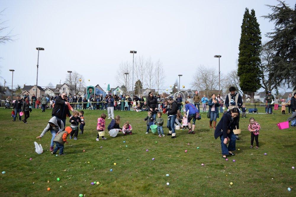 Easter egg hunt at Clark Park // Courtesy Karen McAllister