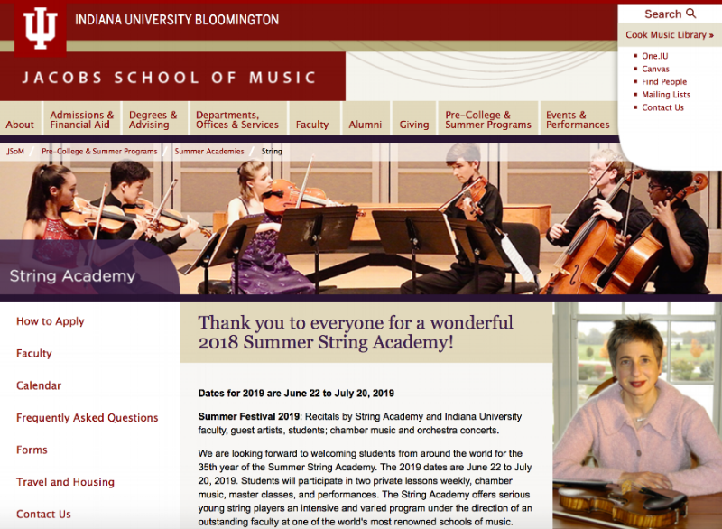 Indiana University Summer String Academy