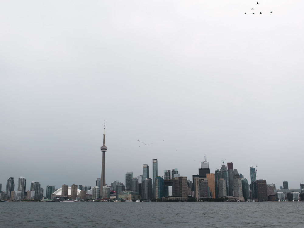 Toronto Island on Rainy wedding day at RCYC