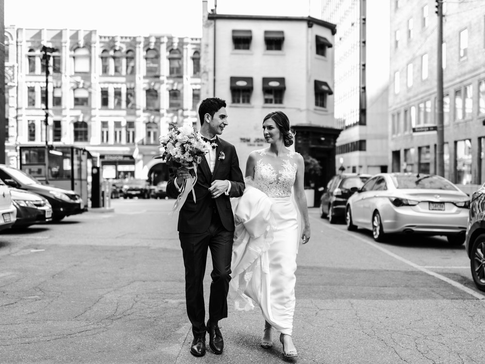 King st. wedding portraits - toronto wedding photographer-  halifax wedding photographer - rosewater restaurant wedding