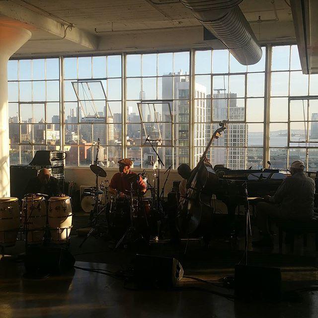 Randy Weston and 95 year old Candido at Jazz Foundation of America's Jazz Loft Party. #jazz #worldjazz