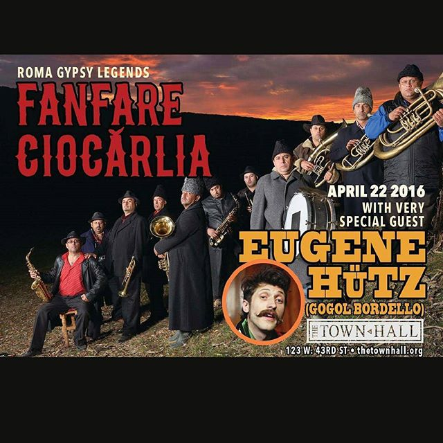 Our 2015 fest co-producers are bringing something truly exhilarating tomorrow to NY Town Hall. Gypsy Brass superstars, Fanfare Ciocarlia. You haven't heard Duke Ellington's Caravan until you've heard their take of it. After all they do know a thing or two about caravans.