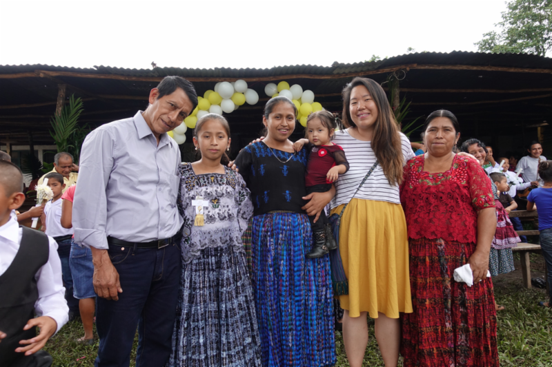 Yi Lian with her Host Family in Lancetillo La Parroquia