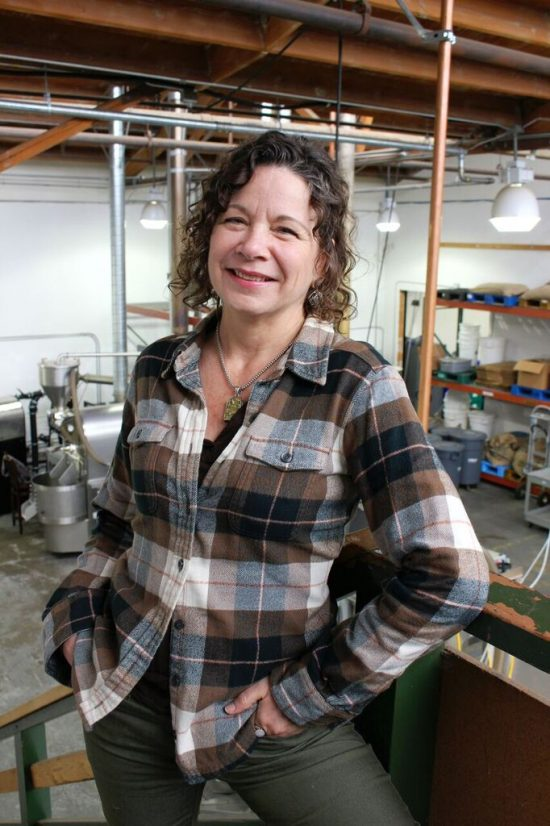 Floy Andrews is the co-founder of Bay Area CoRoasters, a communal co-roasting space that has allowed numerous Bay Area coffee businesses to roast their own coffee. Photo by Marlee Benefield.