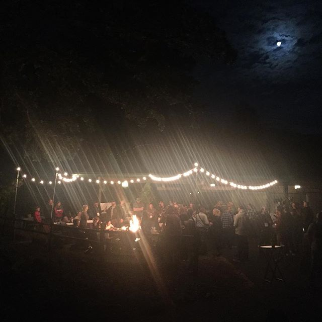 Coffee Roasters Guild Retreat, Saturday night roast competition, Jet Puff Marshmallows.  Outrageous.  And check out that moon.  @coffeeroastersguild @floyandrews108