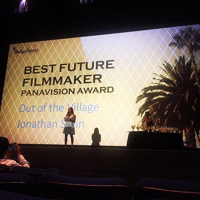 Won the @panavisionofficial future filmmaker award at @hollyshorts last night. An incredible honor.