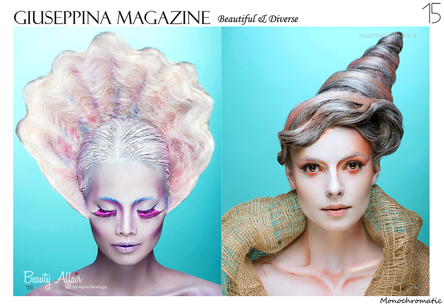 Artistic Beauty avantgarde editorial mua hair by Agne Skaringa photo by Tomas Skaringa Halloween makeup shell mermaid beauty by Agne Skaringa Beauty Affair3