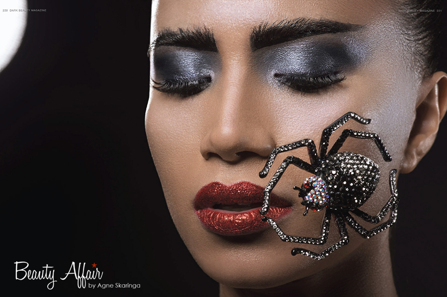 Beauty Photographer Tomas Skaringa - Wicked 5 gorgeous sexy sultry halloween makeup spider woman evil red lips naughty