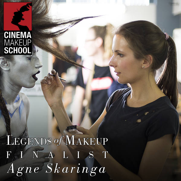 lithuanian makeup artist hair stylist Agne Skaringa at Los Angeles Hollywood Cinema Makeup School Finalist of Ve Neill scholarship