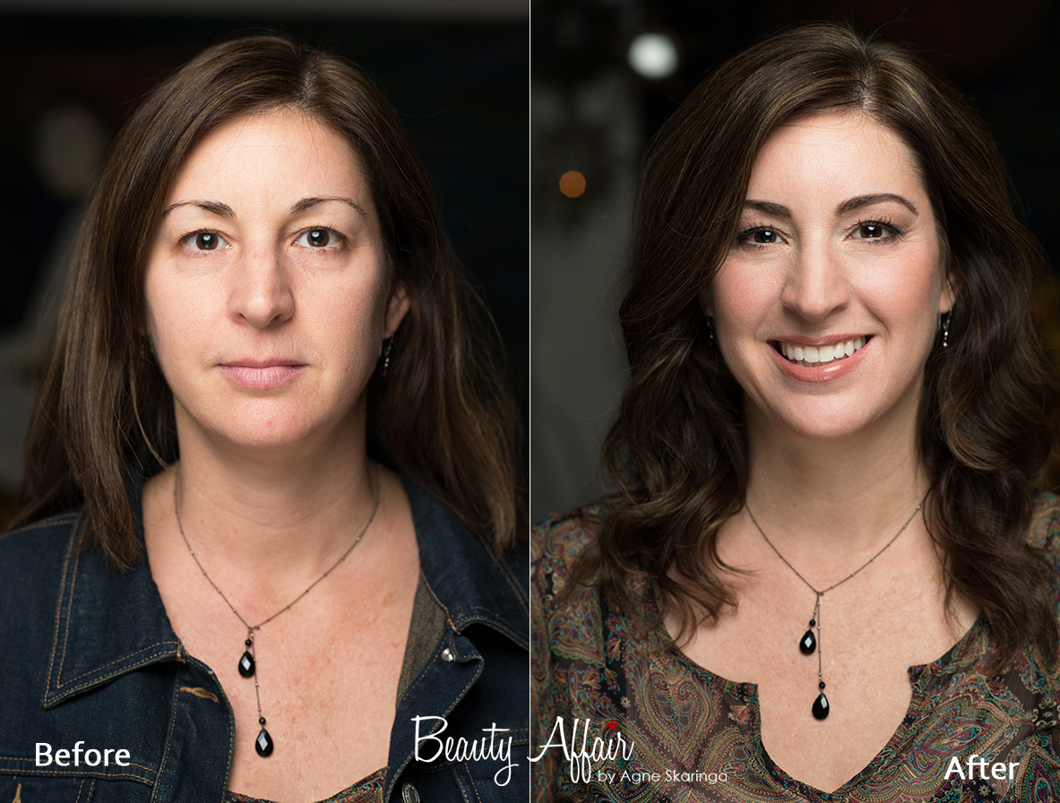 Private make up class los angeles makeup aplication before and after  by Beauty Affair