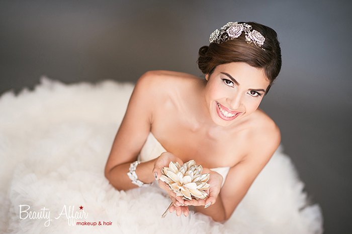 elegant gorgeous Bridal makeup and hair by Beauty Affair - Agne Skaringa